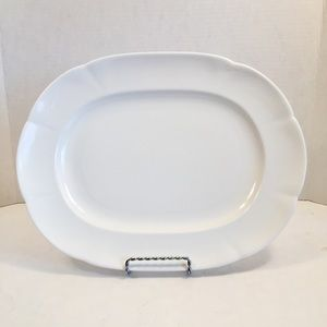"Block WINDSOR BONE 12 3/4"" Oval Serving Platter"
